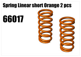 Spring Linear short Orange 2pcs