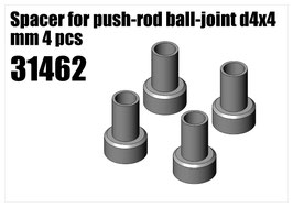 Steel Spacer for push-rod d4x4 mm 4pcs