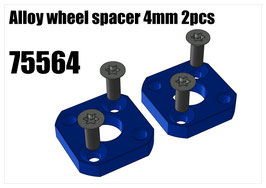 Alloy wheel spacer 4mm 2pcs
