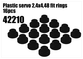 Plastic servo 2,4x4,48 fit rings 16pcs