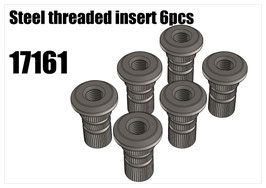 Steel threaded insert 6pcs