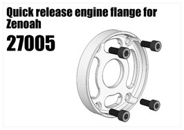 Quick release engine flange for Zenoah