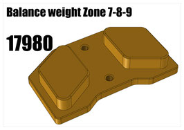 Balance weight Zone 7-8-9
