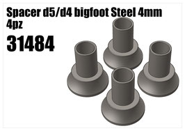 Steel d5/d4 bigfoot spacer 4mm 4pcs