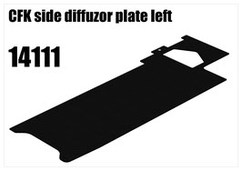 CFK side diffuzor plate left