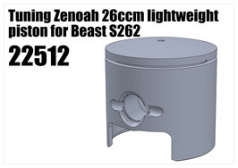 Tuning Zenoah 26ccm piston for S262