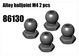 Alloy balljoint M4 2 pcs