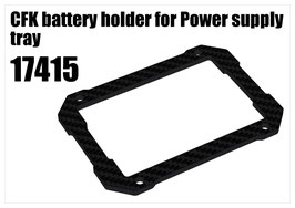 CFK battery holder for Power supply tray