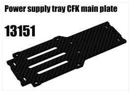 Power supply tray CFK main plate