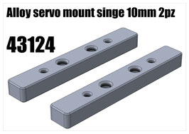 Alloy servo mount single 10mm 2pz