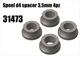Steel d4 spacer 3,5mm 4pz