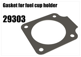 Gasket for fuel cup holder