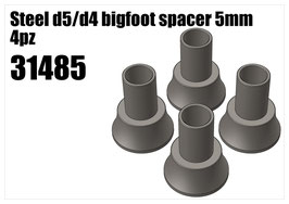 Steel d5/d4 bigfoot spacer 5mm 4pcs