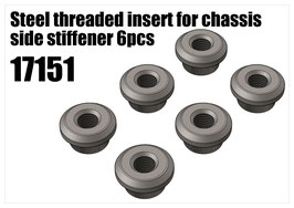 Steel threaded insert for chassis side  6pcs