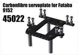 CFK servoplate for Futaba 9152