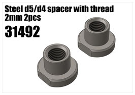 Steel d5/d4 spacer with thread 2mm 2pcs