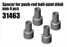 Steel Spacer for push-rod d4x6 mm 4pcs