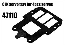 CFK servo tray for 4pcs servos