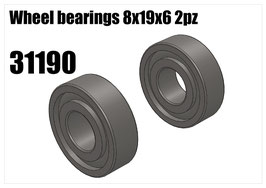 Wheel bearing 8x19x6 2pcs