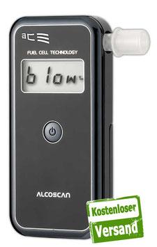 ACE Alcoscan II Basic (Plus), TU-Wien-Messgenauigkeit:99,0%* + 25 Mundstücke