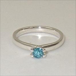 Blauer Turmalin Silber