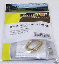 FALLER 180661 LAMPENSOCKEL LED WEISS 16 V Neu