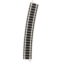 Fleischmann piccolo (mit Bettung) 9136 Gebogenes Gleis 15 ° 430 mm