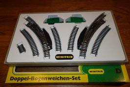 Minitrix  51 4993 00 Doppel Bogenweichen Set OVP