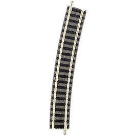 Fleischmann piccolo (mit Bettung) 9131 Gebogenes Gleis 15 ° 396.4 mm