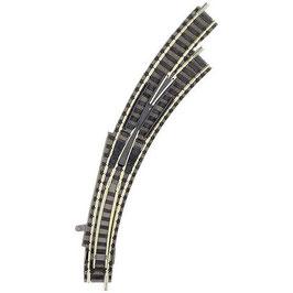 Fleischmann piccolo (mit Bettung) 9175 Bogenweiche, rechts 45 ° 356.5 mm, 420 mm