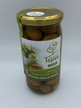 Grüne Bio-Oliven in Salzlake Abtropfgewicht 220 g - The Best of Oil Producer