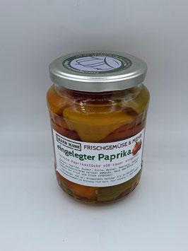 Hausgemachter eingelegter Paprika 700 g - Frischgemüse&Mehr