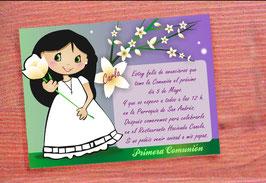 Invitación nena flor