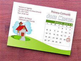 invitacion iglesia con calendario