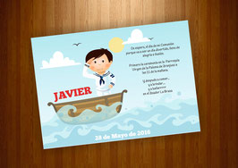 invitacion Marinero con barco