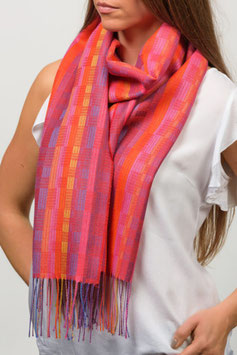 Stripped Weaves Wide Scarf