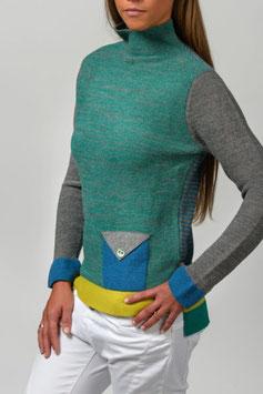 Color Neck Pullover