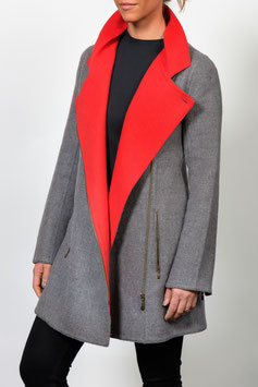 Zipped Front Coat