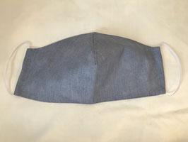 Stoffmaske uni blau