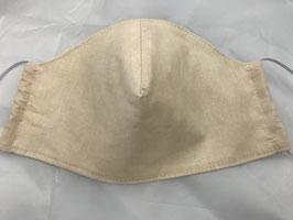 Stoffmaske uni beige