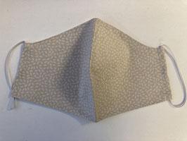 Stoffmaske beige Blätter