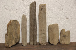 6 Stück Treibholz / Schwemmholz