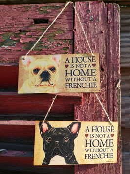 Holzschild Home