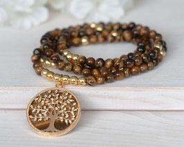 Halskette Tigerauge (Gold)