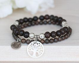 Armband-Duo «Baum des Lebens» Perlmutt (Silber)