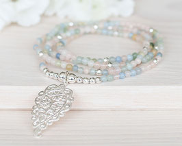 Halskette Beryll (Silber)