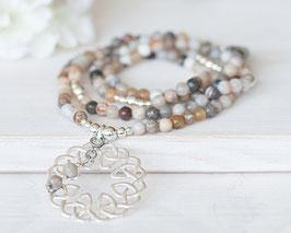 Halskette Bambus-Jaspis (Silber)