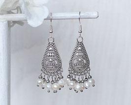 Ohrhänger Perlen (Silber)