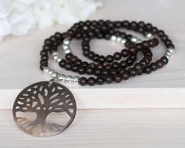 Halskette «Baum des Lebens» Perlmutt (Silber)