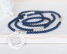 Halskette Lapislazuli (Silber)